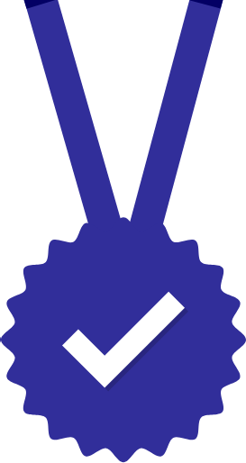 badge with checkmark